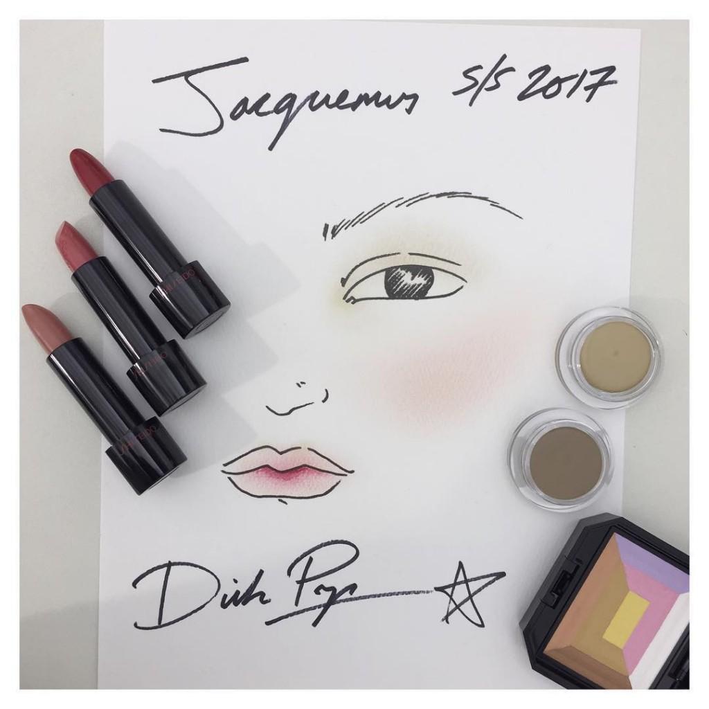 Le joli makeup du show jacquemus cr par dickpageface avechellip