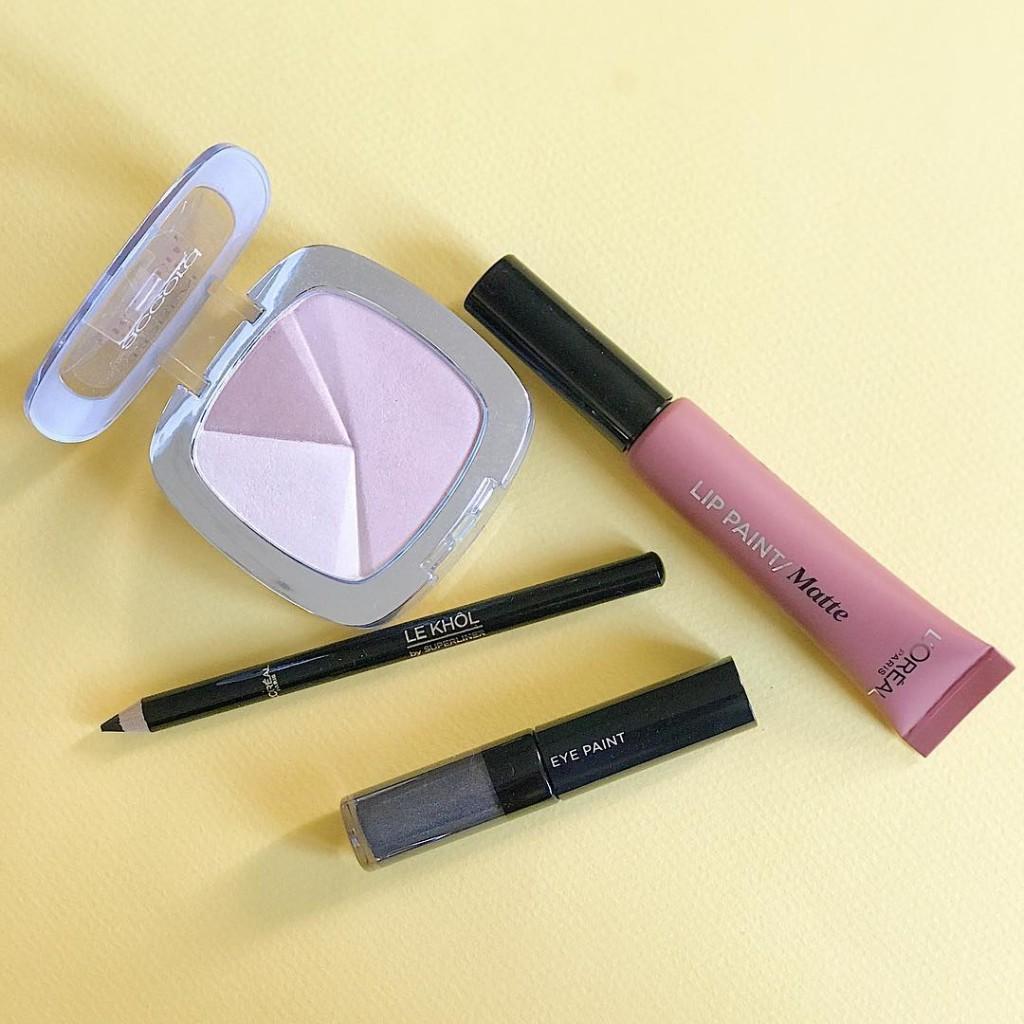 Les produits utiliss pour le look makeup publi ce matinhellip