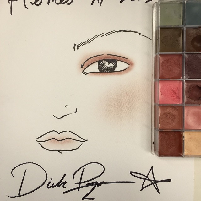 Le joli makeup du splendide défilé Hermès  by @dickpageface #mybeautybackstage #makeup #shiseido #pfw #hermes