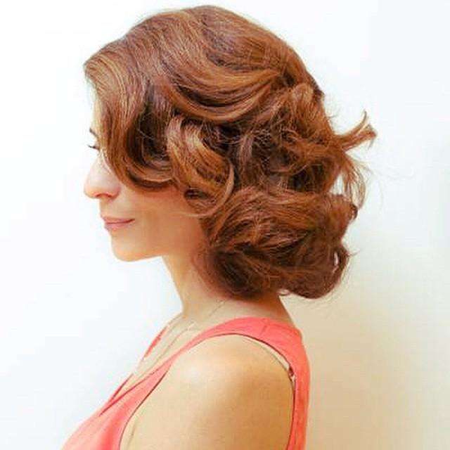 La semaine dernire lquipe LOral ma coiffe en Rita Hayworthhellip